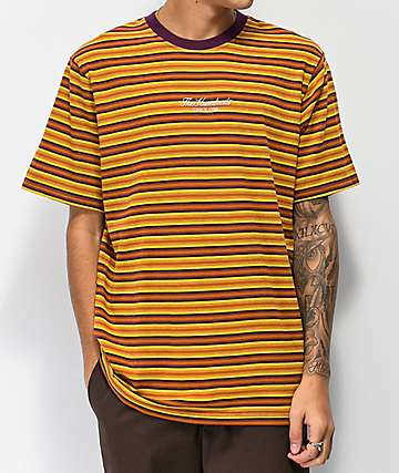 The Hundreds Canal Copper, Purple & Gold Striped T-Shirt