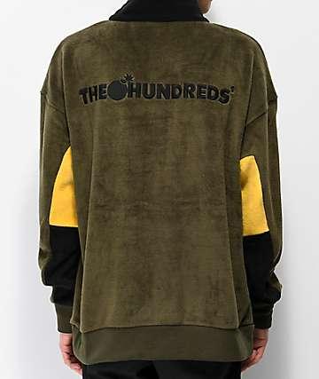 The Hundreds Canyon chaqueta de polar oliva