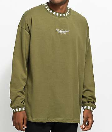 The Hundreds Casey Olive Long Sleeve T-Shirt