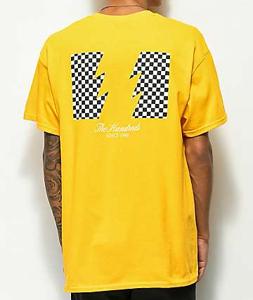 The Hundreds Checkered Flag Gold T-Shirt