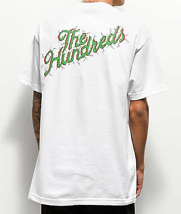 The Hundreds Cracked Script Logo White T-Shirt