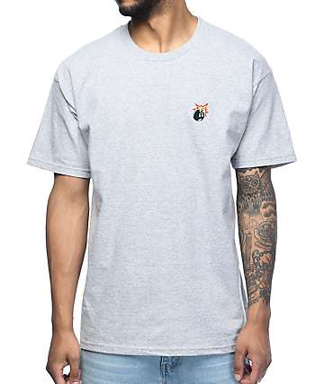 The Hundreds Crest Adam camiseta gris