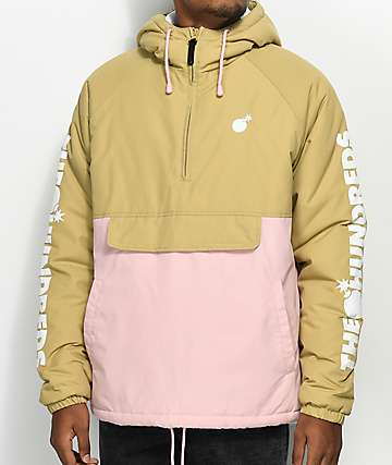 The Hundreds Dell 2 chaqueta anorak en color caqui y rosa