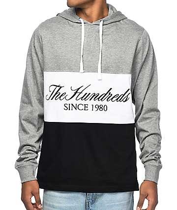 The Hundreds Ellis Black & Grey Hooded Shirt