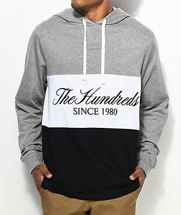 The Hundreds Ellis camiseta gris de manga larga con capucha