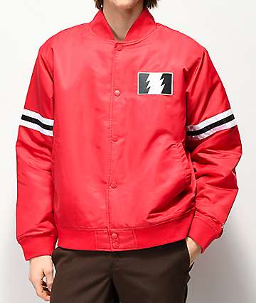 The Hundreds Ender Red Varsity Jacket