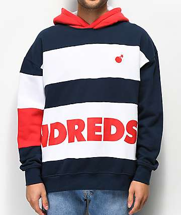 The Hundreds Fig Navy & Red Hoodie