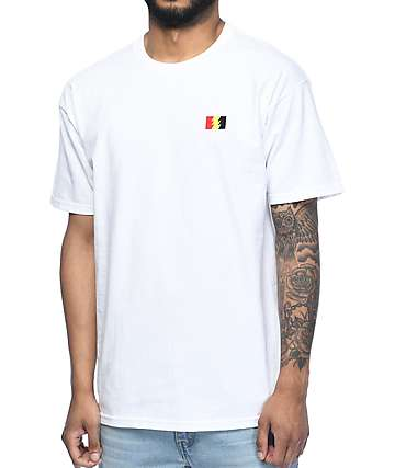 The Hundreds Flag Emblem White T-Shirt