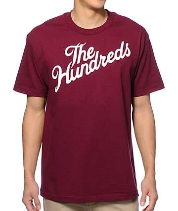 The Hundreds Forever Slant Burgundy T-Shirt