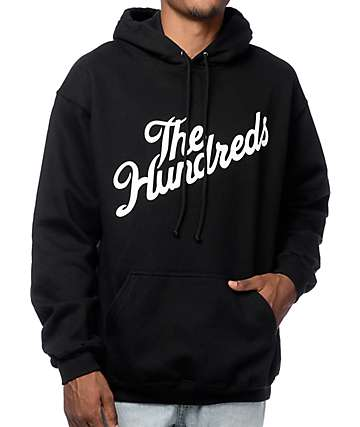 The Hundreds Forever Slant sudadera con capucha en negro