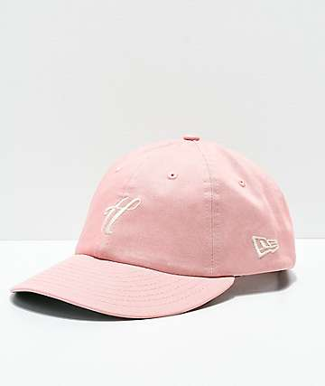 The Hundreds Ground Pink Strapback Hat