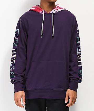 The Hundreds Headspin Purple Hooded Long Sleeve T-Shirt