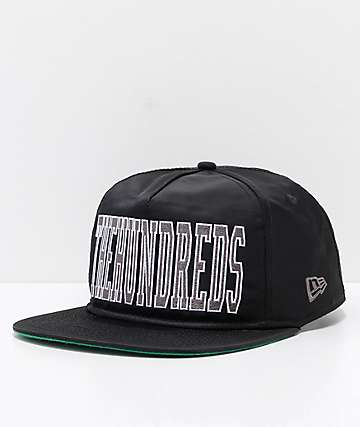 The Hundreds Law Black Snapback Hat