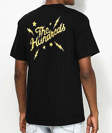 The Hundreds Lightning Slant Black T-Shirt