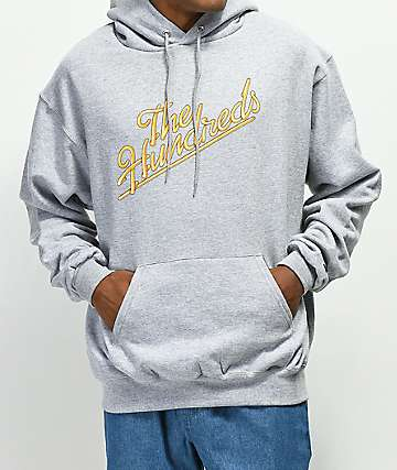 The Hundreds Modesto Slant Grey Hoodie