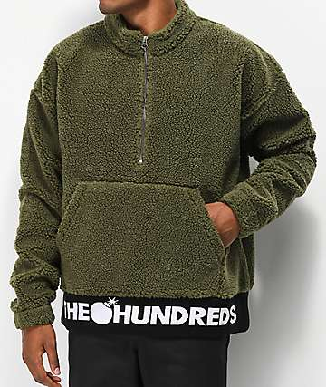 The Hundreds Nepal sudadera de sherpa oliva