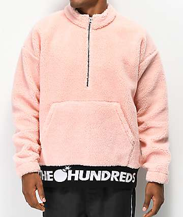 The Hundreds Nepal sudadera de sherpa rosa