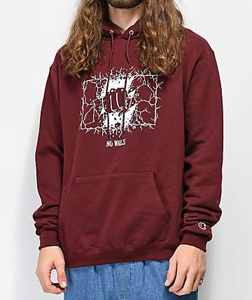 The Hundreds No Walls Burgundy Hoodie