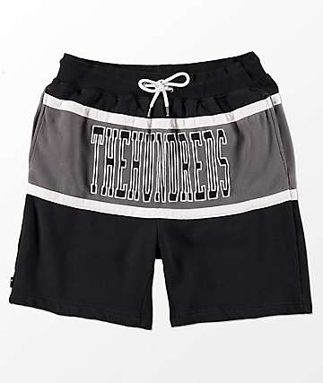 The Hundreds Ole Black & Grey Sweat Shorts
