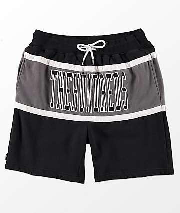 The Hundreds Ole Black & Grey Sweat Shorts
