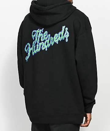 The Hundreds Ooze Slant sudadera negra con capucha