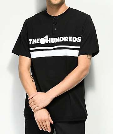 The Hundreds Pacific camiseta negra con cuello henley