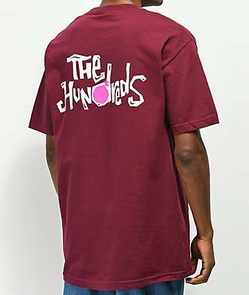 The Hundreds Poetry Burgundy T-Shirt