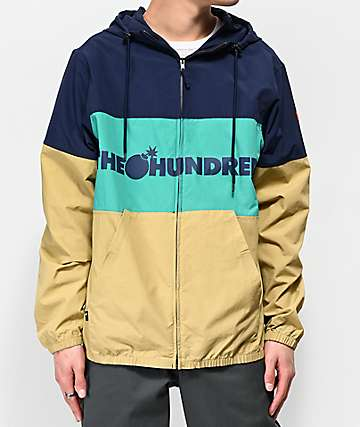 The Hundreds Port Navy, Green & Khaki Windbreaker Jacket