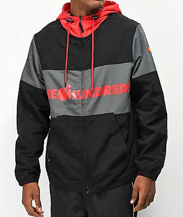 The Hundreds Port Red & Black Jacket