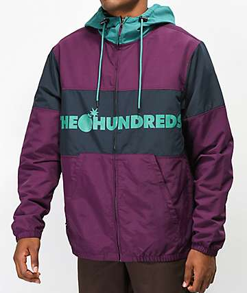 The Hundreds Port chaqueta morada y verde