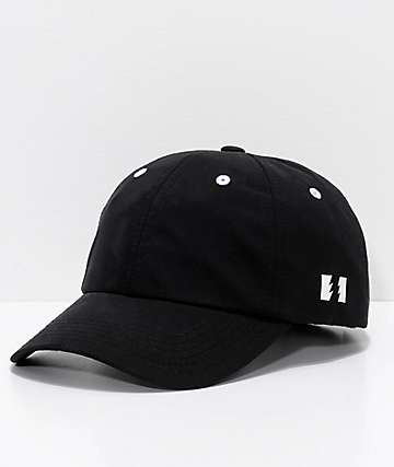 The Hundreds Rev Black Nylon Strapback Hat