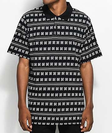 The Hundreds Rey camiseta polo en negro