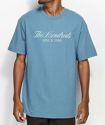 The Hundreds Rich Logo camiseta en azul claro