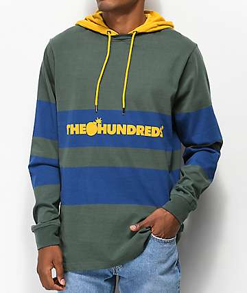 The Hundreds Ridge Green Hooded Long Sleeve Shirt