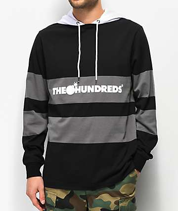 The Hundreds Ridge camiseta de manga larga con capucha negra