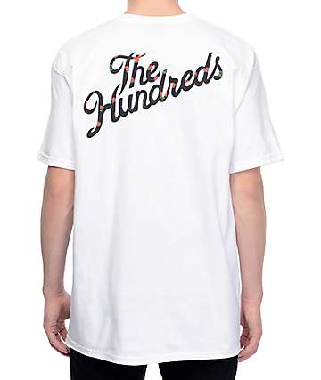 The Hundreds Rose Fill Slant camiseta blanca