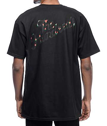 The Hundreds Rose Fill Slant camiseta negra