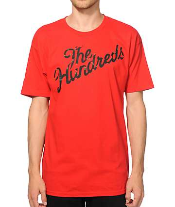The Hundreds Rose Slant Red T-Shirt