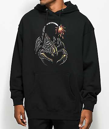 The Hundreds Scorpion Bomb Black Hoodie