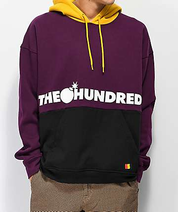 The Hundreds Sierra Purple, Gold & Black Hoodie
