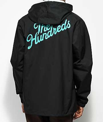 The Hundreds Slant Black & Turquoise Coaches Jacket