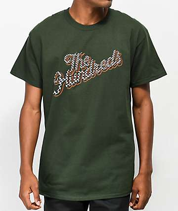 The Hundreds Slant Squares camiseta verde