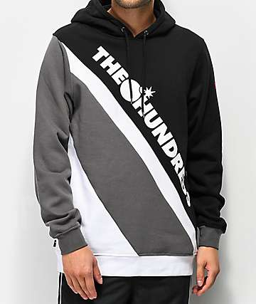 The Hundreds Slope Black, Grey & White Hoodie