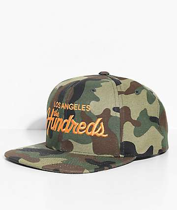 The Hundreds Team Camo Snapback Hat