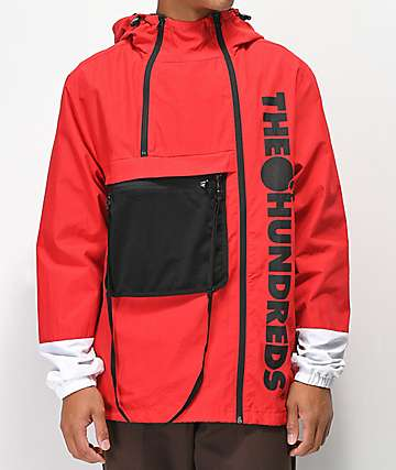 The Hundreds Terrain Red Anorak Jacket