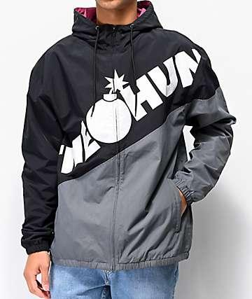 The Hundreds Tilt Black & Grey Windbreaker Jacket