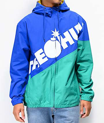 The Hundreds Tilt Blue & Green Windbreaker Jacket
