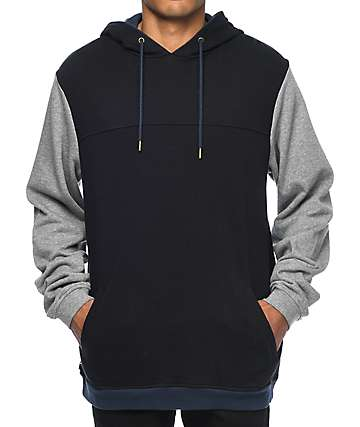 The Hundreds Union Embroidered Black Hoodie