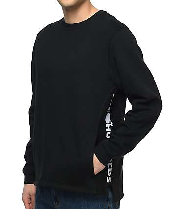 The Hundreds Valley Black Crewneck Sweatshirt