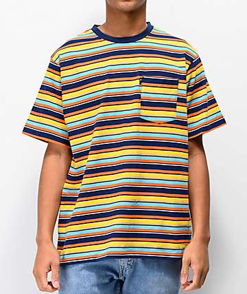 The Hundreds Varden Blue, Yellow, & Orange Striped T-Shirt
